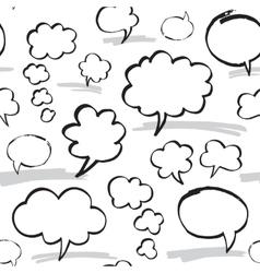 Marker speech bubbles seamless pattern vector
