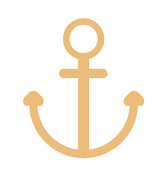 Nautical anchor isolated background ship anchor vector