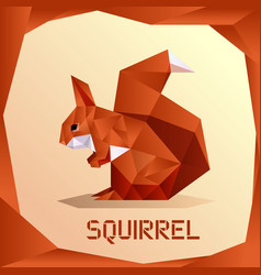 Origami orange squirrel vector