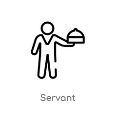 Outline servant icon isolated black simple line vector