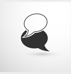 overlapping chat bubbles vector image