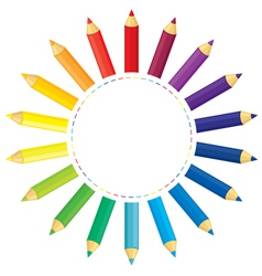 pencil sun vector image vector image