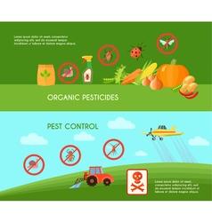 Pest Control Banners Set vector