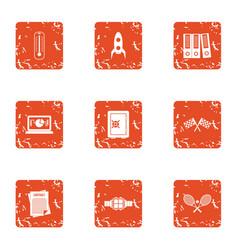 Platform icons set grunge style vector