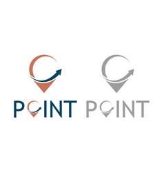point arrow logo vector image