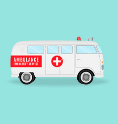 retro ambulance car emergency medical service vector image