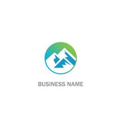 round high mountain logo vector image