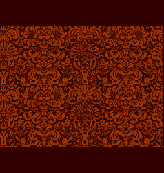 seamless black ornament on a red background vector image