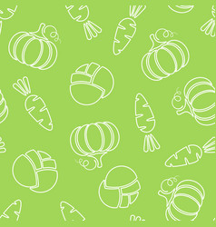 seamless silhouette vegetable pattern vector image