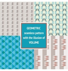 Set geometric seamless texture vector image