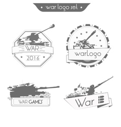 Set Logo WAR vector
