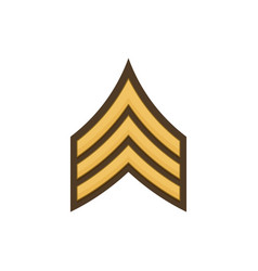 Sgt sergeant enlisted military rank stripe isolate vector