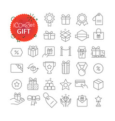 simple icons collection web and mobile app vector image