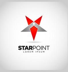 simple star point logo design vector image