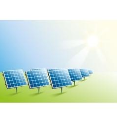 Solar power Solar panels in field vector