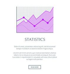 Statistics data representation in form of graphic vector