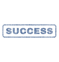 Success textile stamp vector
