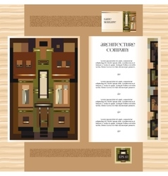 Template jdesign brochure with historic mansion vector