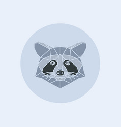 triangle raccoon head vector image
