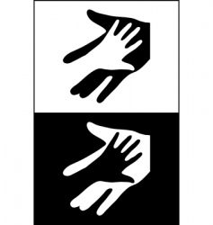two hands vector image
