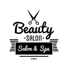 Vintage barber shop logo and beauty spa salon vector