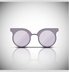vintage glasses with reflection vector image