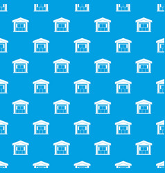 warehouse building pattern seamless blue vector image
