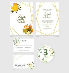 wedding invitation card template eps 10 vector image