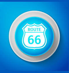 white american road icon route sixty six road vector image