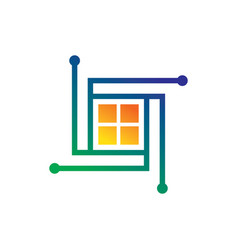 Window technology sign logo vector