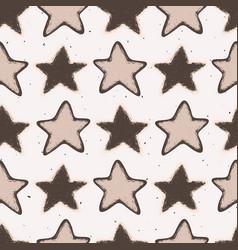 Winter rustic stars lino cut texture seamless vector