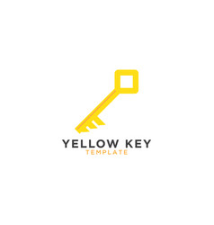yellow key graphic design template vector image