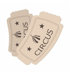 Circus show paper tickets cartoon vector