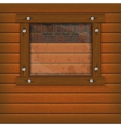restaurant menu wooden frame and glass vector image vector image