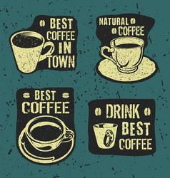 Retro vintage coffee labels vector