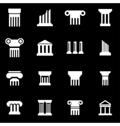 white column icon set vector image