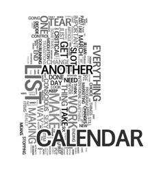 your sexy calendar text word cloud concept vector image