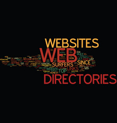 are web directories any good text background word vector image