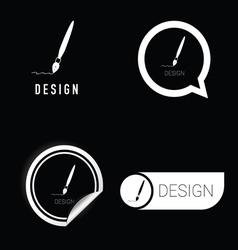 design icon in black and white vector image