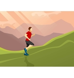 Man Running Flat Icon vector image vector image