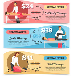 Massage And Health Care Banners vector image vector image