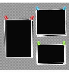 Photo frames composition vector image vector image