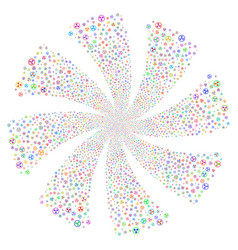 radioactive fireworks swirl flower vector image
