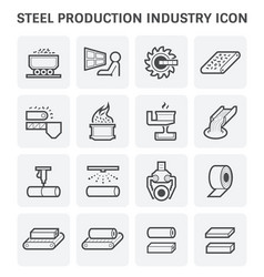 steel production icon vector image