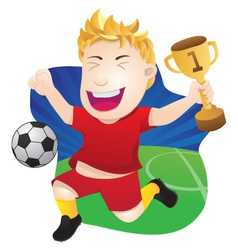 Winner Playing Soccer vector image vector image
