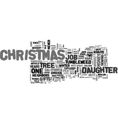 a tumbleweed christmas text word cloud concept vector image vector image