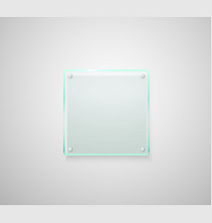 Advertising glass board place your text vector