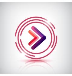 arrows logo icon isolated vector image