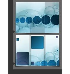 Bubble Brochure Design Template vector image