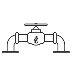 natural gas pipeline icon vector image